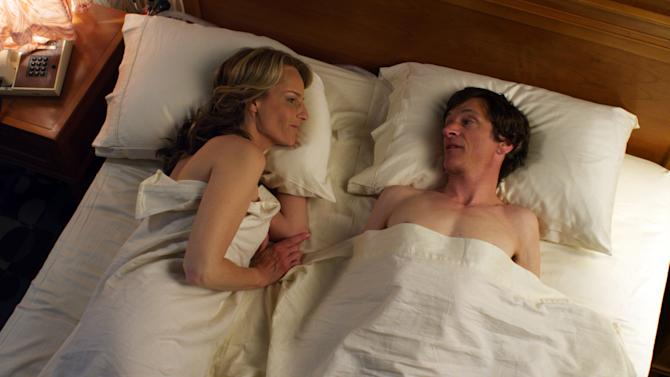 "This publicity photo released by Fox Searchlight Pictures shows Helen Hunt, left, and John Hawkes  in a scene from ""The Sessions."" (AP Photo/Fox Searchlight Pictures)"