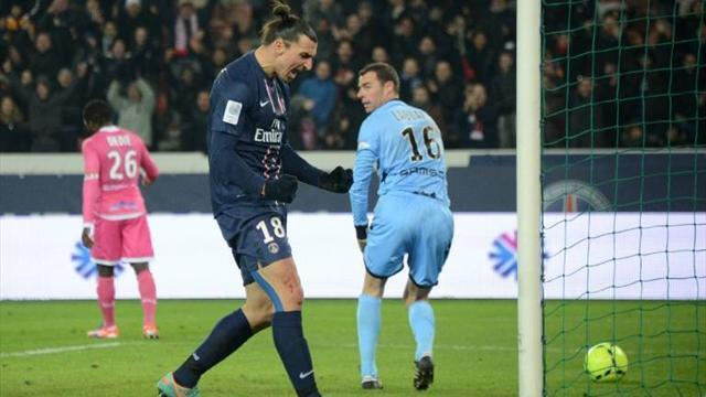 Ligue 1 - Ibrahimovic on target as PSG go second
