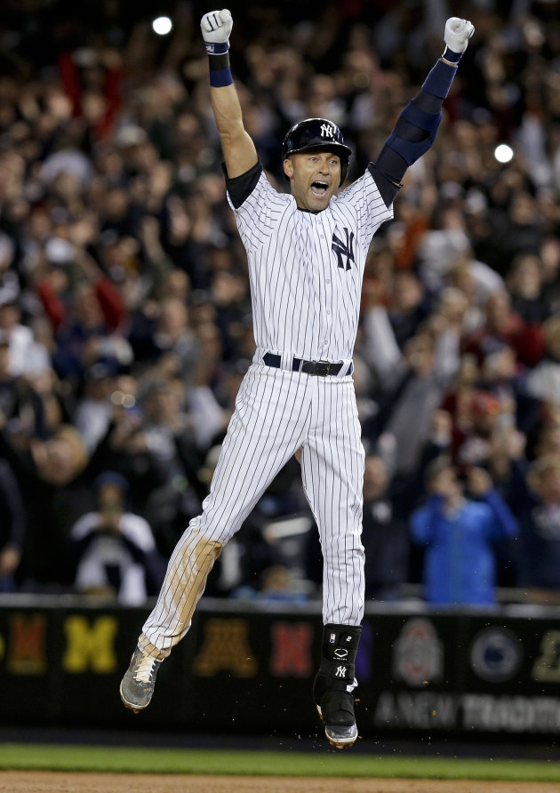 The most fitting end: Derek Jeter hits walk-off single in ...