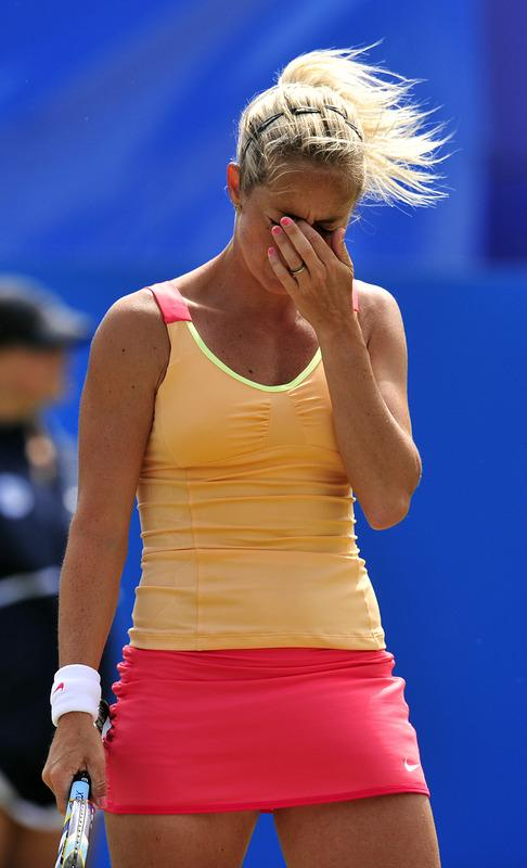 Klara Zakopalova Of The Czech Republic Reacts AFP/Getty Images