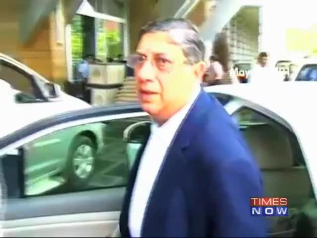 SC to decide Srinivasan's fate