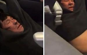 A video screengrab shows passenger David Dao being dragged off a United Airlines flight at Chicago O'Hare International Airport in this video filmed by @JayseDavid April 9, 2017.