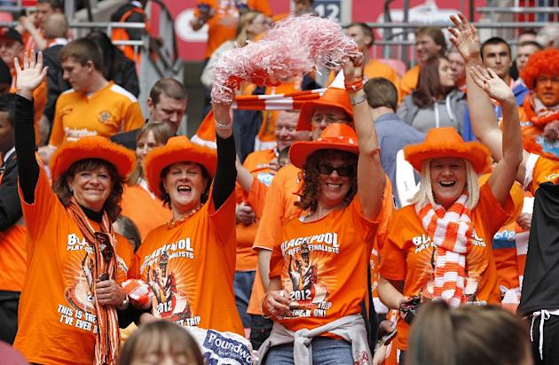 Troubled Blackpool have slipped from the Premier League to the third tier of English football