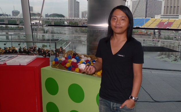 Nicholas Foo is a LEGO certified professional and gets paid for his LEGO artworks. (Yahoo! photo/Fann Sim)