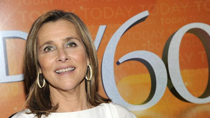 """FILE - This Jan. 12, 2012 file photo, Meredith Vieira attends the """"Today"""" show 60th anniversary celebration at the Edison Ballroom in New York. Vieira is returning to daytime TV with a syndicated talk show. Producer NBCUniversal says """"The Meredith Vieira Show"""" will launch in fall 2014 as a weekday program that will """"make viewers laugh, learn and feel inspired."""" NBC said Tuesday, July 9, 2013 the New York-based show will be taped on a set that resembles Vieira's home, including her actual furniture and family photos. (AP Photo/Evan Agostini)"""