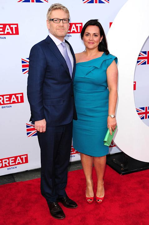 Oscars 2012 Pre Party: Nominee Kenneth Branagh and his wife Lindsay Brunnock partied at the Great British Film Reception to honour the British Nominees of the 2012 Oscars.