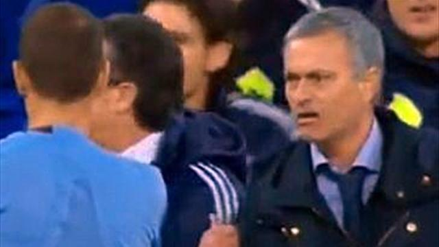 Liga - Mourinho sent off in Copa final