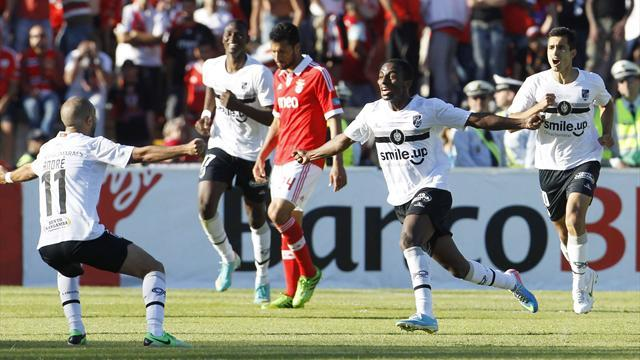 European Football - Guimaraes upset Benfica to clinch Portuguese Cup