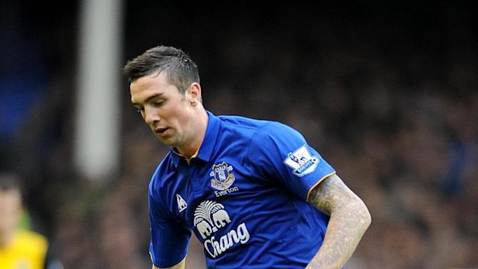 Tranmere manager Ronnie Moore plays down reports linking him with Everton defender Shane Duffy, pictured