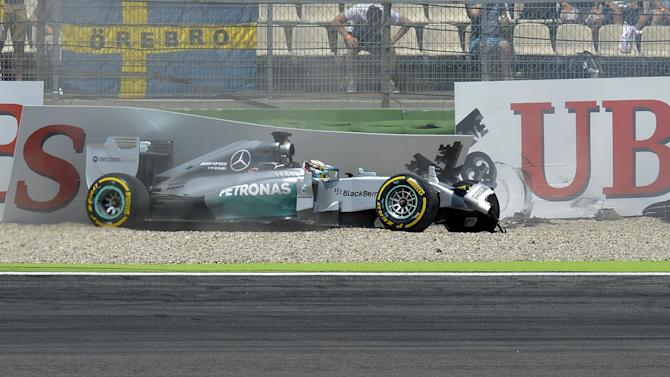 German Grand Prix - Whose fault was it? Hamilton crash blame shifts