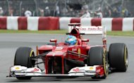 Fernando Alonso races during the second practice for the Canadian Grand Prix. Ferrari pair Alonso and Felipe Massa said they were happy with the improved performance of their cars after some positive times during the practice sessions for the Canadian Grand Prix