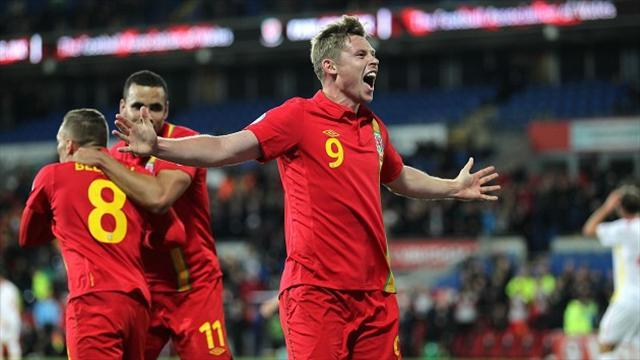Football - Church fires Wales to victory