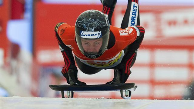Skeleton - Thees beats Uhlaender by 0.01 in Altenberg