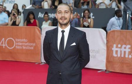 "LaBeouf arrives on the red carpet for the film ""Man Down"" during the Toronto International Film Festival in Toronto"
