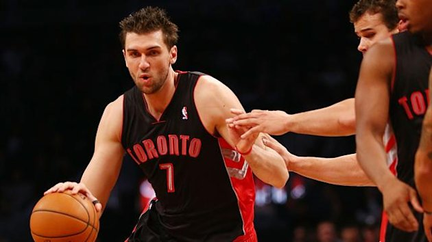2012 NBA Raptors' Bargnani (AFP)