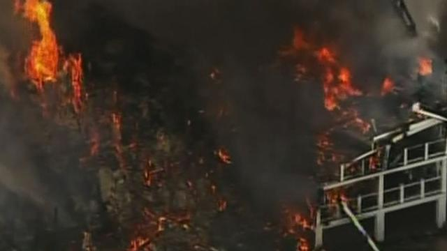 New Jersey blaze destroys three homes