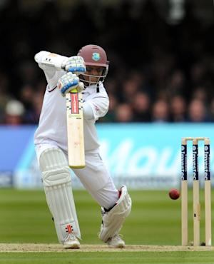 Shivnarine Chanderpaul was unbeaten on 20 at the close of play on day three