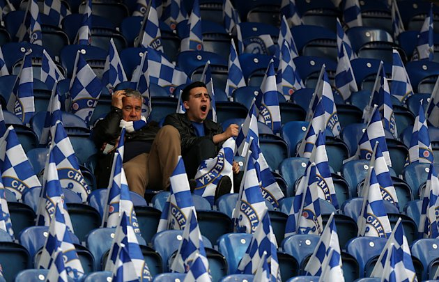 Chelsea fans in the stands