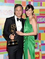 Actor Mark Ruffalo and wife Sunrise Coigney arrive at HBO's Post Emmy Awards reception on Monday, Aug. 25, 2014 in West Hollywood, Calif. (Photo by Evan Agostini/Invision/AP)