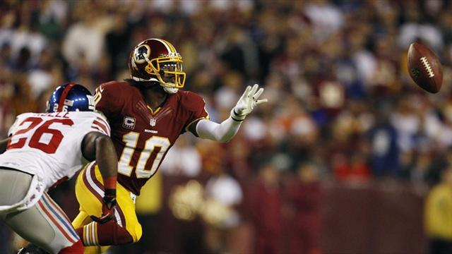 NFL  - Redskins edge Giants to continue play-off push