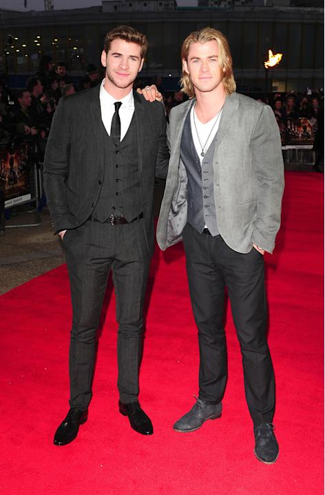 The Hunger Games UK Premiere photos: Chris and Liam Hemsworth.