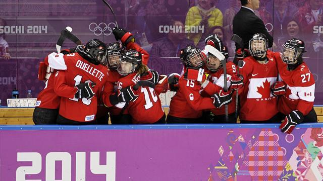 Ice Hockey - Canada complete amazing comeback to pip US to gold