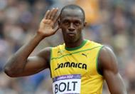 Usain Bolt before the men's 200m heats at the athletics event during the London 2012 Olympic Games on August 7, 2012