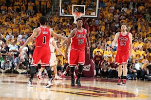 The Bulls' Big 3 came up huge on Monday. (Nathaniel S. Butler/NBAE/Getty Images)