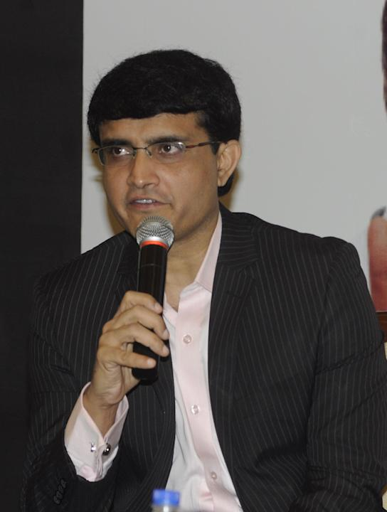Former Indian cricket captain Saurav Ganguly during the launch of `Hridaya Suraksha` a health package launched by a private hospital in Kolkata on Oct. 3, 2013. (Photo: IANS)