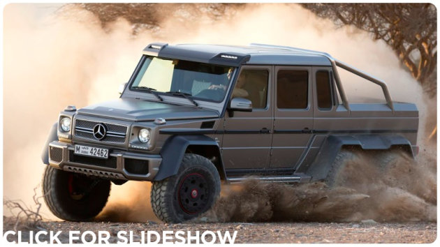 The new 6 wheel drive mercedes g63 amg for Six wheel mercedes benz