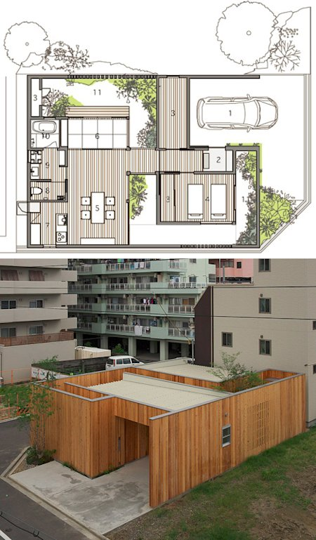 privacy plan japanese house