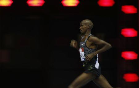 Great Britain's Mo Farah in action during the Men's 5000m