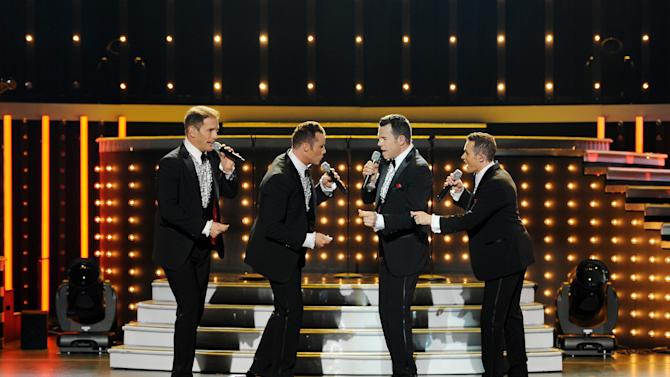 In a July 6, 2011 photo released by HN ENT US LLC, the Australian pop quartet Human Nature performs in Las Vegas. The group's music really got a hold of Smokey Robinson. Motown Records' signature vocalist loved Human Nature's take on the legendary label's standards so much that he signed on as the group's official presenter and are now heading out for their first U.S. tour, which kicks off Saturday, March 24, 2012 in Detroit. (AP Photo/HN ENT US LLC, Denise Truscello)