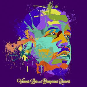 "This undated publicity photo provided by  Island Def Jam Music Group shows the album cover of Big Boi's, ""Vicious Lies and Dangerous Rumors,"" illustrated by Justin ""Jus 10"" Huff. (AP Photo/Island Def Jam Music Group)"