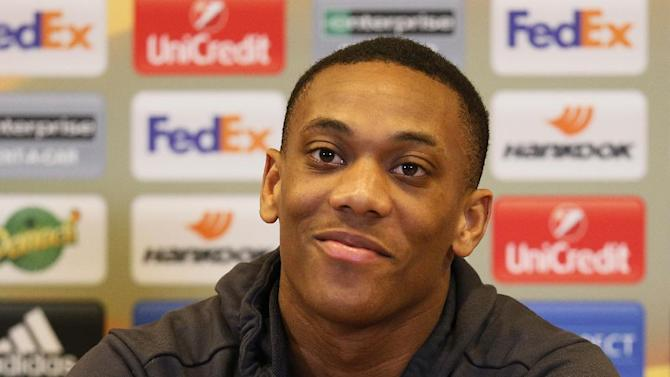 Manchester United's Anthony Martial during the press conference