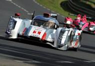 Audi R18 E-Tron Quattro N°1 driven by German Andre Lotterer competes in the 80th edition of Le Mans 24 hour endurance race
