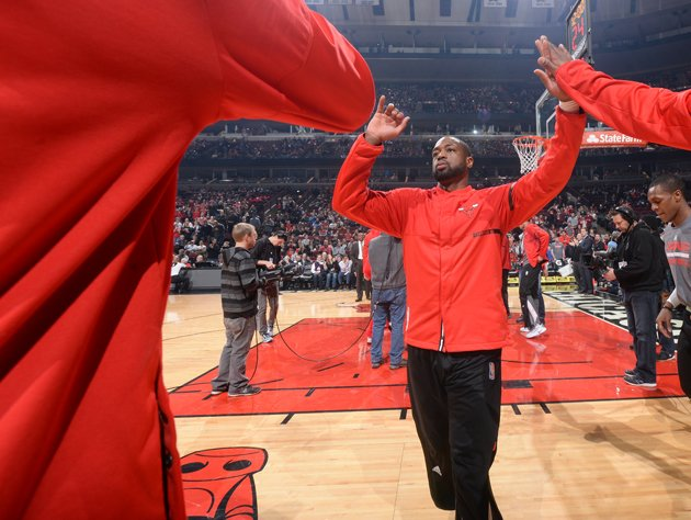 Dwyane Wade, now at home. (Getty Images)