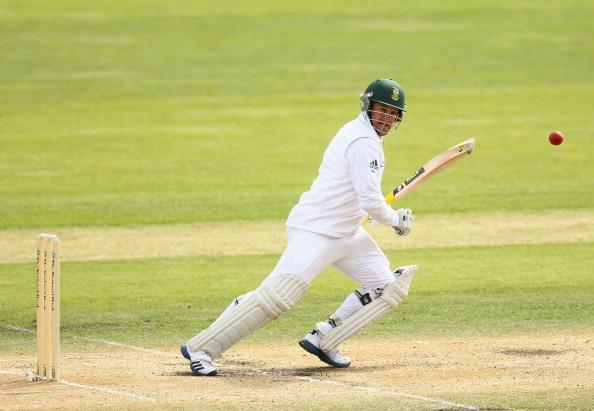 DUNEDIN, NEW ZEALAND - MARCH 10: Mark Boucher of South Africa bats during day four of the First Test match between New Zealand and South Africa at the University Oval on March 10, 2012 in Dunedin, New