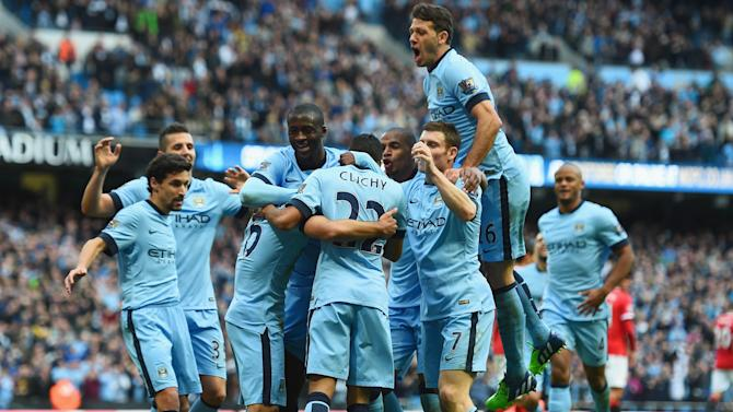 Premier League - Aguero strike seals City win over 10-man United
