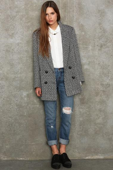 Gray Boyfriend Coat