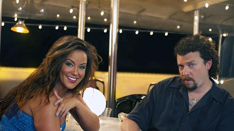 "Katy Mixon as April Buchanon and Danny McBride as Kenny Powers in ""Eastbound & Down."""