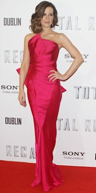 YAY OR NAY: Kate Beckinsale in hot pink Donna Karan at Total Recall premiere