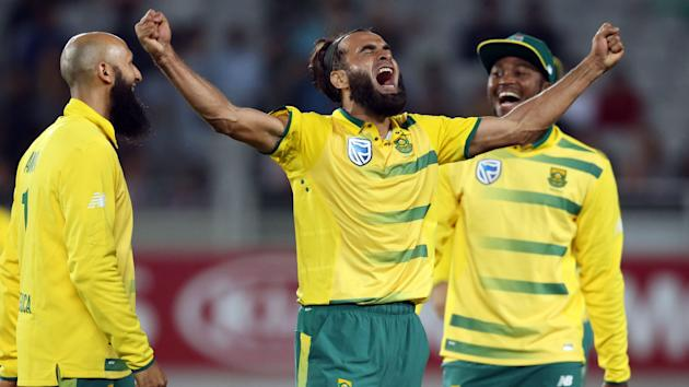 New Zealand were trounced in their sole T20 against South Africa as Hashim Amla and Imran Tahir played starring roles in Auckland.