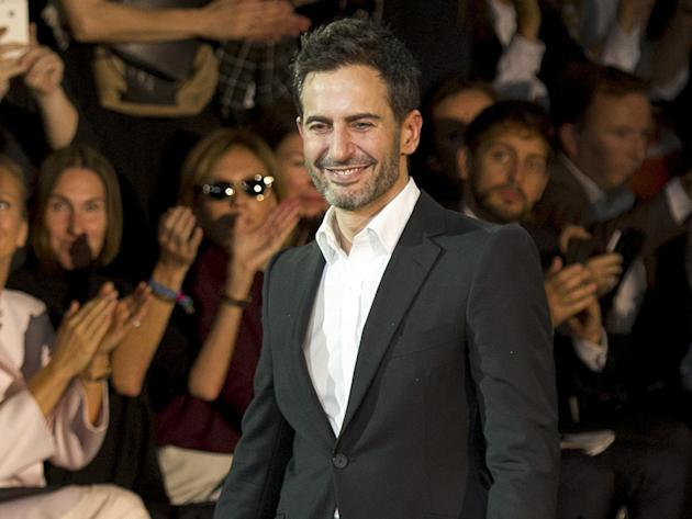 FILE - In this Oct. 2, 2013 file photo, fashion designer Marc Jacobs acknowledges applause following the presentation of the ready-to-wear Spring/Summer 2014 fashion collection he designed for Vuitton