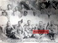 "This old photograph, said to have been taken in September 1898, shows members of the ""Kataas-taasan, Kagalang-galangang Katipunan ng mga Anak ng Bayan"" (Highest and Most Honorable Society of the Children of the Nation) also known as K.K.K. or Katipunan."