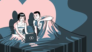 Is Facebook Ruling Our Relationships? image mashable couple twitter