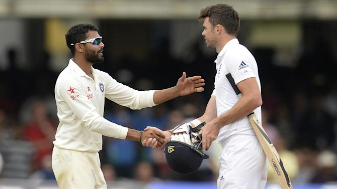 Cricket - Jadeja fined for Anderson fracas