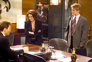 Eric McCormack, Megan Mullally and Macaulay Culkin on NBC's Will and Grace