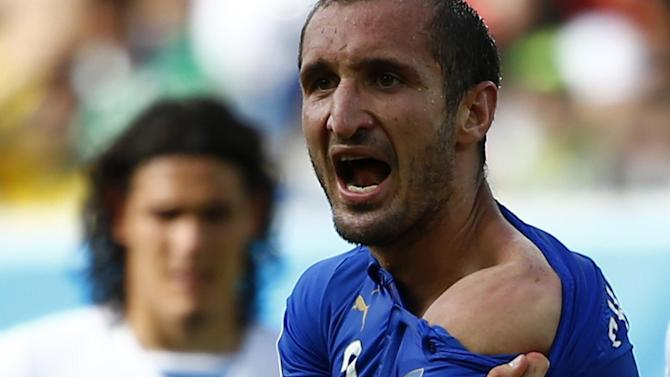 World Cup - Chiellini: Suarez bite ban is 'excessive'