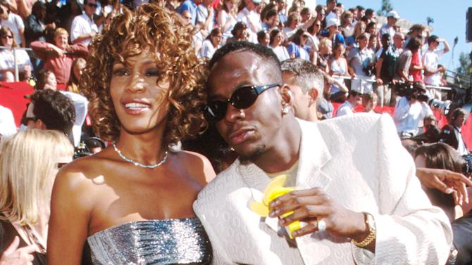 At the 1998 Emmy Awards with then-husband Bobby Brown